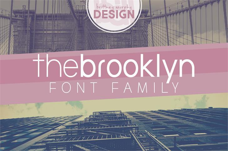 the brooklyn Font screenshot text