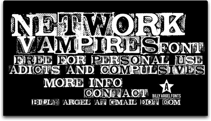NETWORK VAMPIRES Font text poster