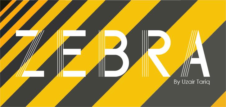 Zebra Font design screenshot