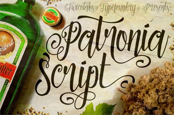 Patronia Script Font handwriting text