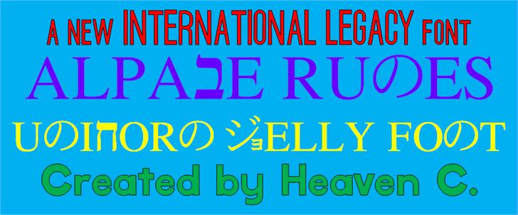 Alpabe Runes CHMC Font poster