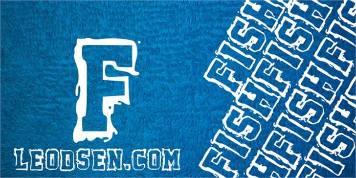 Fish Font design text
