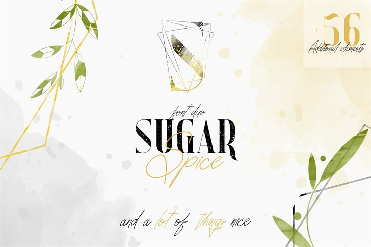 SUGAR SPICE Font poster