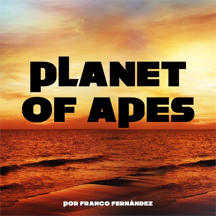 Planet of Apes Font beach text
