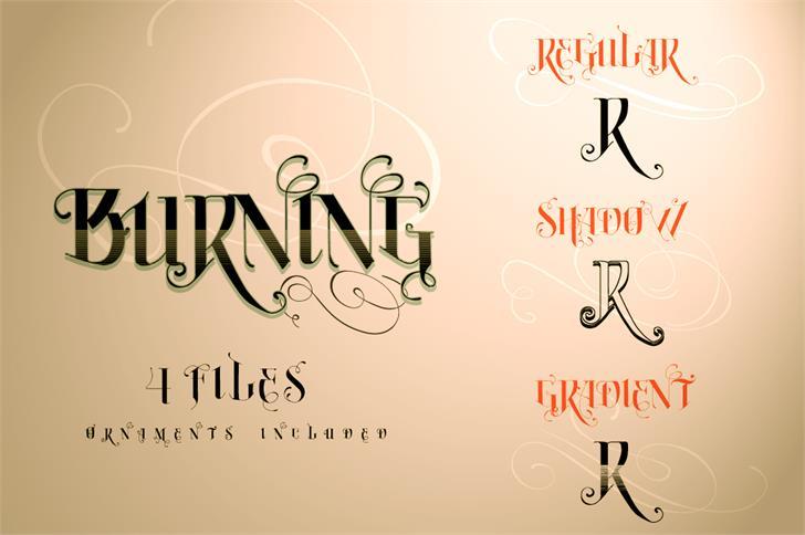 Vtks Burning font by VTKS DESIGN
