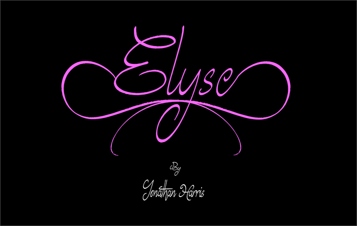 Elyse Font design graphic