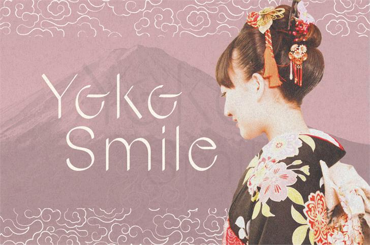 Yoko Smile Font text blackboard