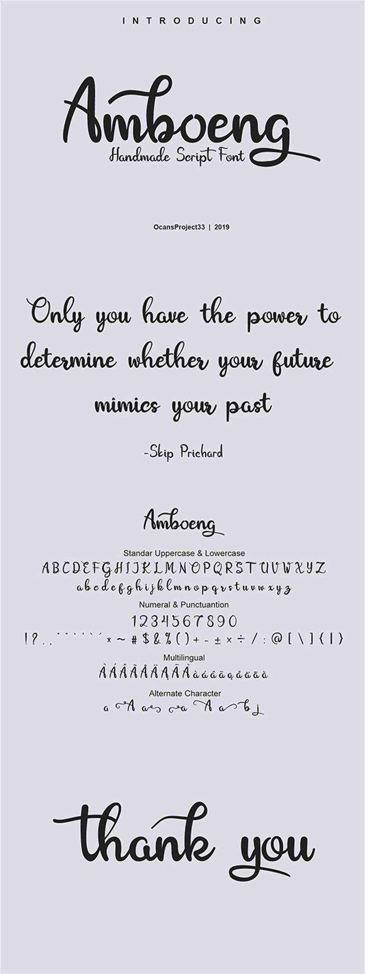 Amboeng Font screenshot handwriting