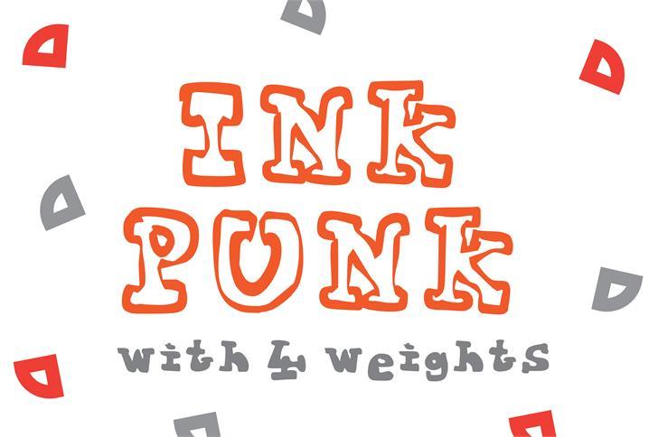 Ink Punk Font design