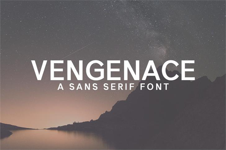 Vengeance Font sky text