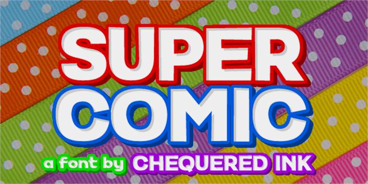 Super Comic Font design screenshot
