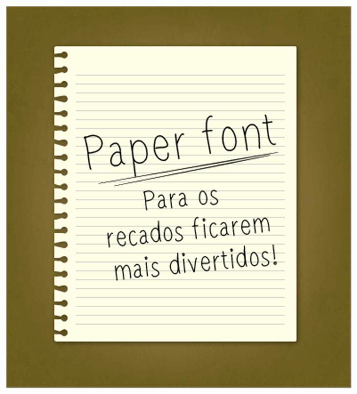 paperfont1 Font handwriting design