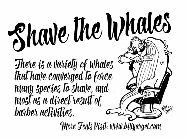 Shave the Whales Personal Use Font text cartoon