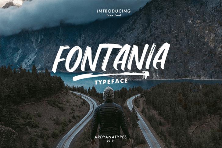 Fontania Font mountain screenshot