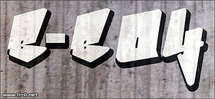 Bboy Font text