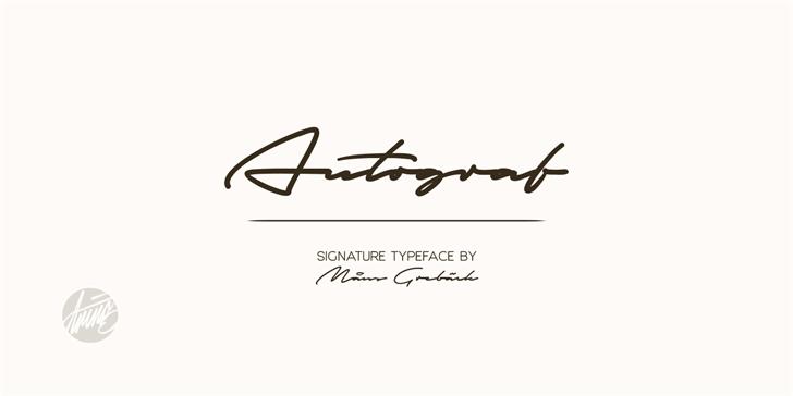 Autograf PERSONAL USE ONLY font by Måns Grebäck