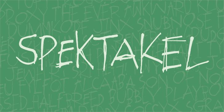 Spektakel DEMO Font handwriting drawing