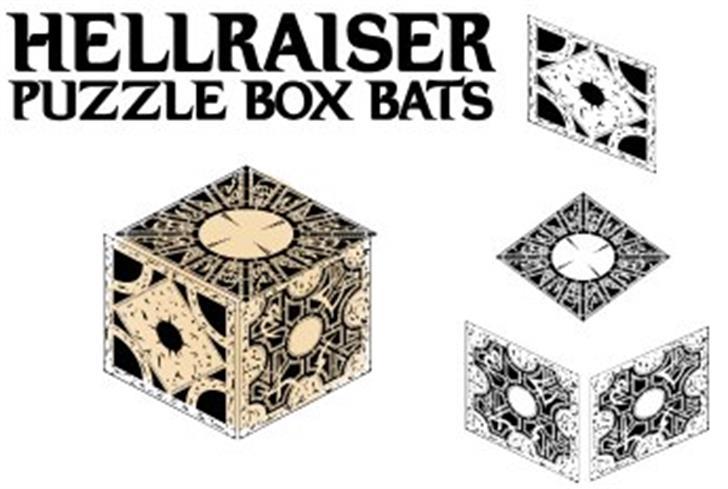 Hellraiser Puzzle Box Bats Font drawing design