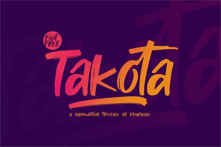 Takota Font screenshot poster