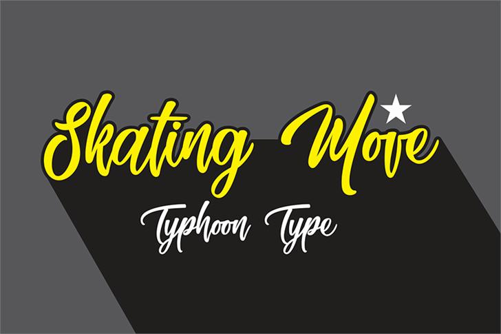 Skating Move Font design graphic