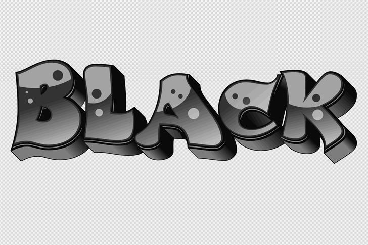 BigPartyO2Black Font poster