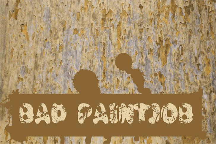 Bad Paintjob Font drawing abstract