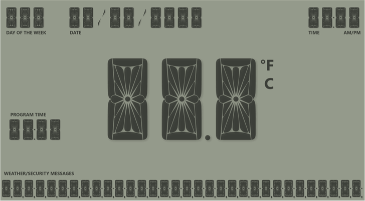 Nova Display Font poster