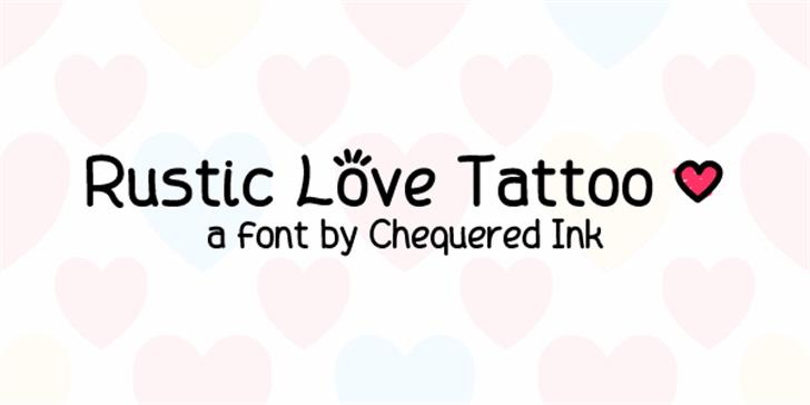 Rustic Love Tattoo Font design graphic