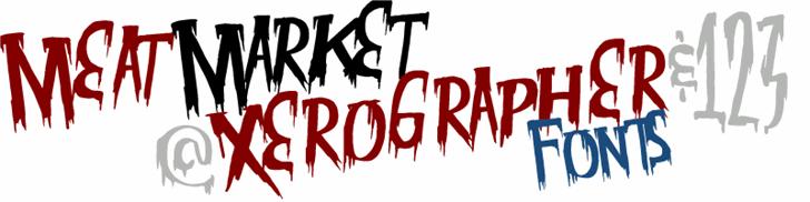 MeatMarket Font design graphic
