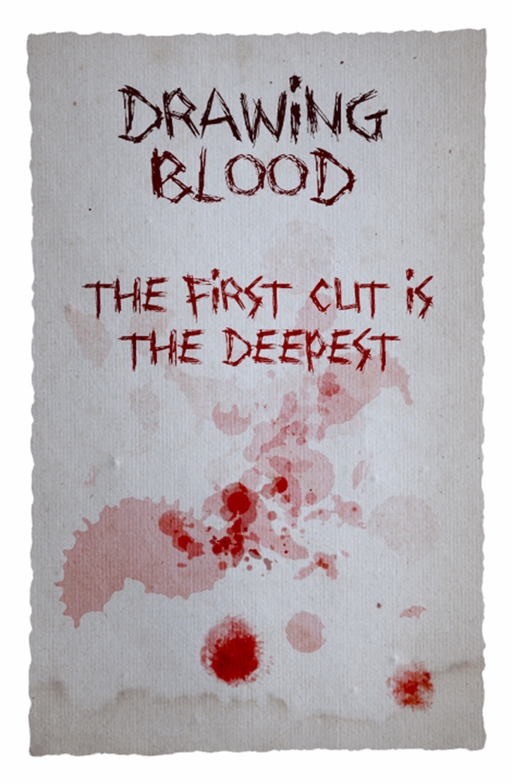 Drawing Blood Font handwriting drawing