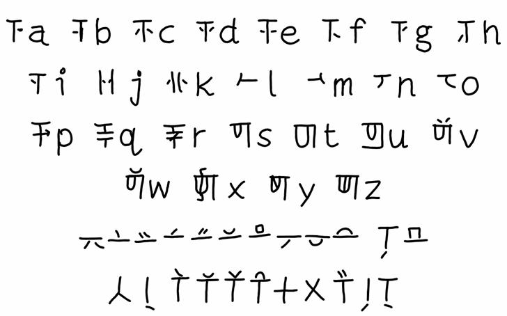 mantrakshar N Font Letters Charmap