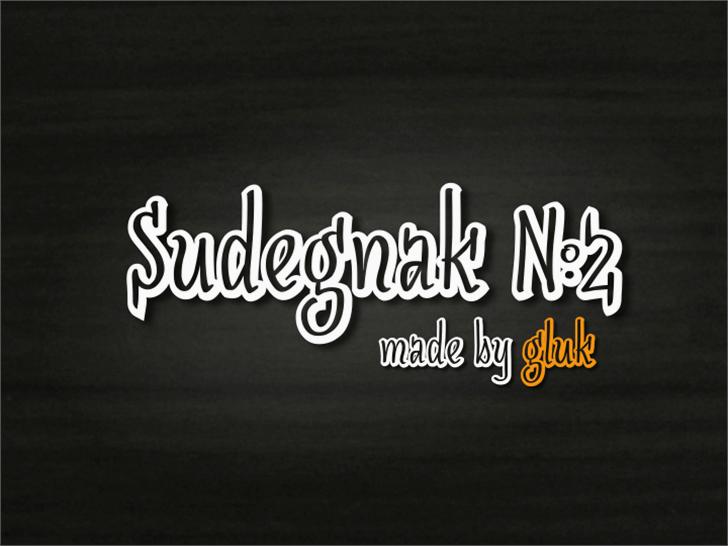SudegnakNo2 Font text design