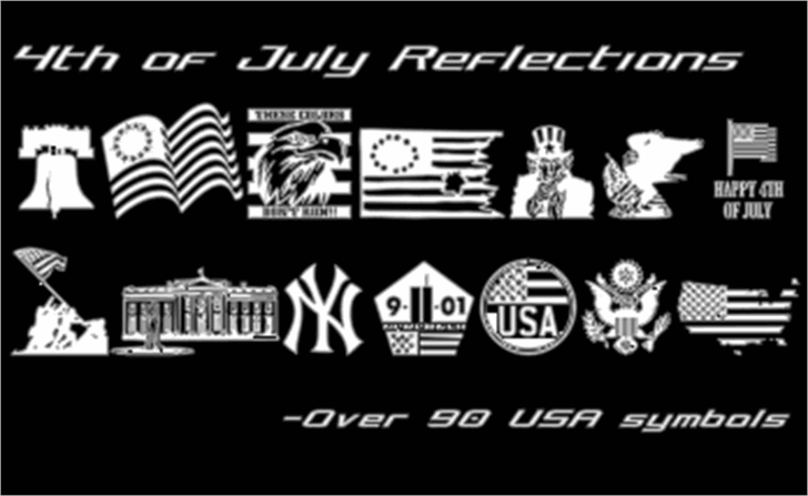 4th of July Reflections Font text