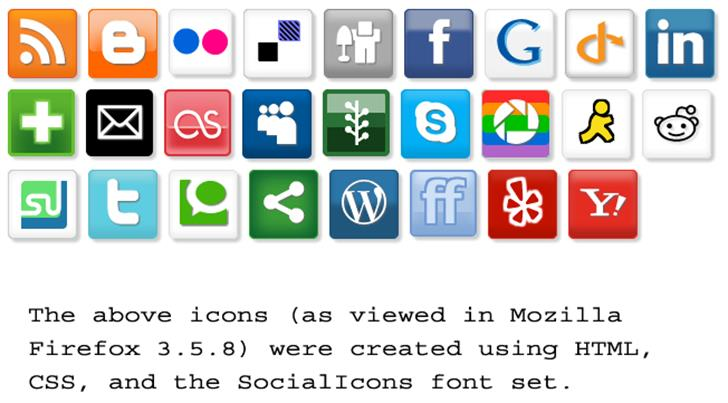SocialIcons font by ptocheia