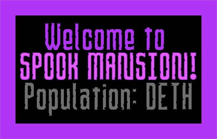 Spook Mansion Font poster