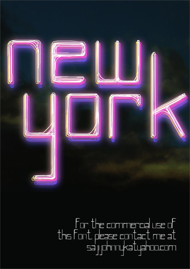 NEW YORK Font screenshot light