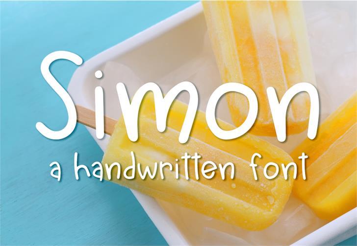 Simon Font design