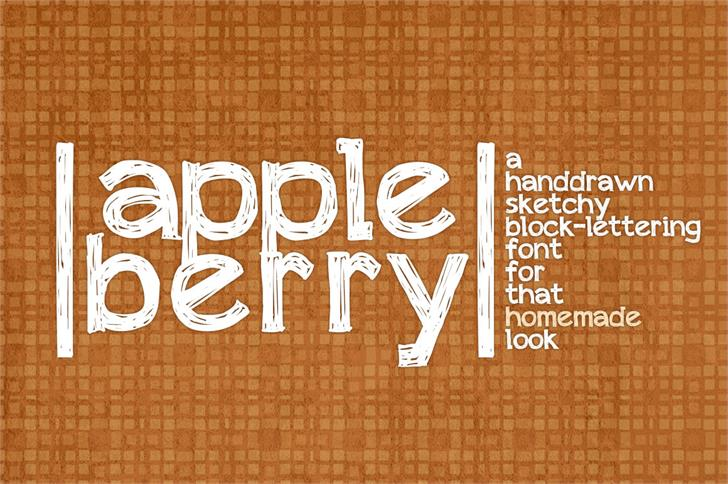 appleberry Font design typography