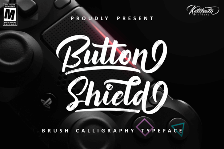 Button Shield Personal Use Only Font design text