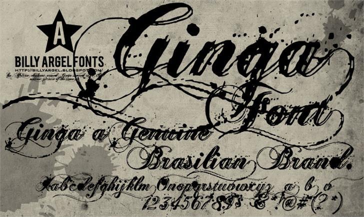 Ginga> Font handwriting text