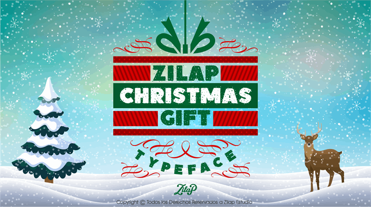 Zilap Christmas Gift Personal U Font poster graphic