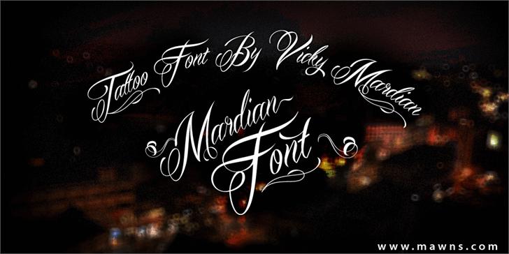 Mardian Demo Font blackboard handwriting