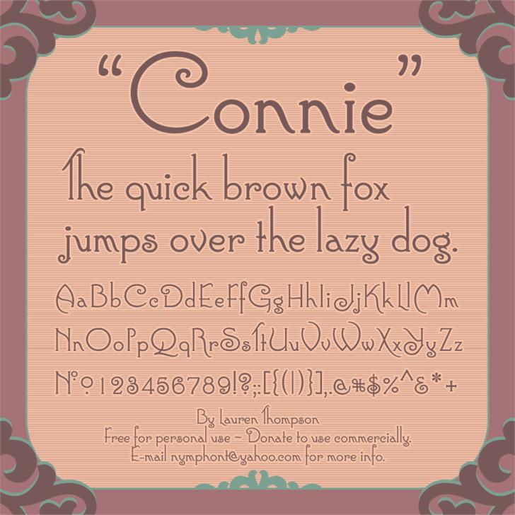 Connie Font text screenshot