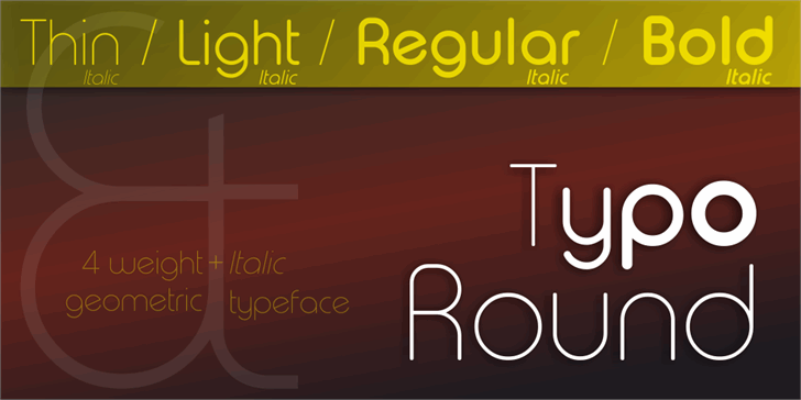 Typo Round Font screenshot design
