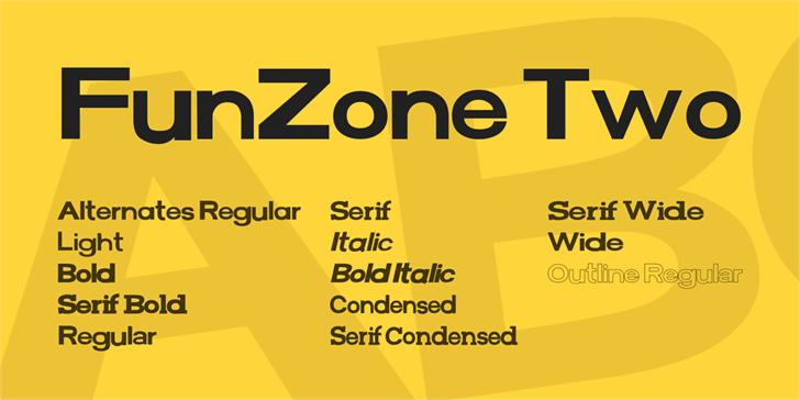 FunZone Two Font screenshot design
