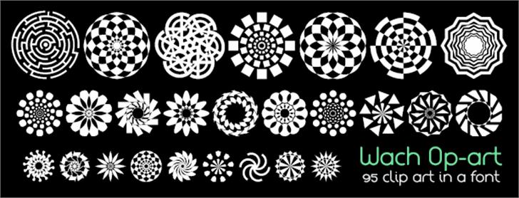 Wach Op-Art Font design pattern