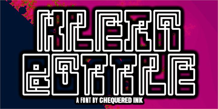 Klein Bottle Font design graphic