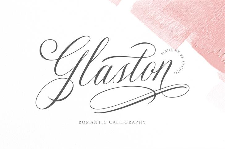 Glaston Font handwriting