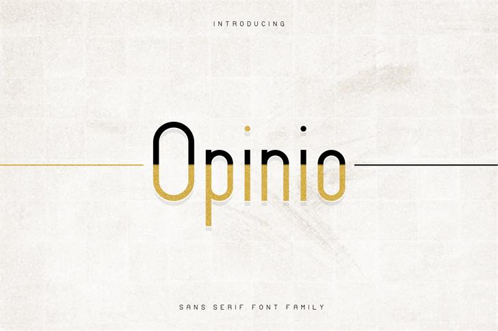 Opinio Font design screenshot