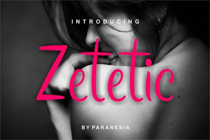 zetetic Font screenshot design